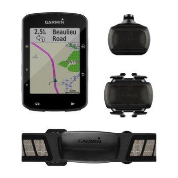 """Навигация за велосипеди Garmin Edge® 520 Plus Sensor Bundle, 2.3""""(5.84) цветен дисплей, IPX7 водоустойчивост, до 15 часа време за работа, базова карта image"""