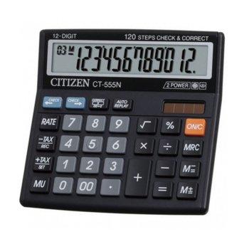 Калкулатор Citizen CT-555N, автоматично изключване, черен image