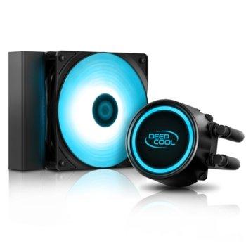 Водно охлаждане за процесор DeepCool GAMMAXX L120T, съвместимост със Intel LGA2066, LGA2011-v3, LGA2011, LGA1151, LGA1155, LGA1156, LGA1366, LGA775, LGA1150 & AMD AM4, AM3+, AM3, AM2+, FM2+, FM2, FM1 image