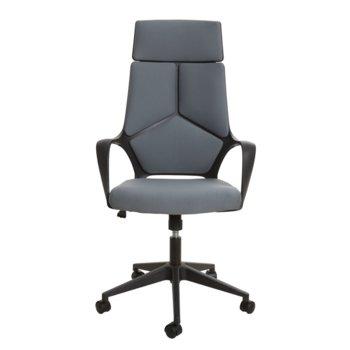 Директорски стол Force Black, дамаска, сив image