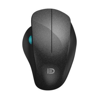 Мишка D i930, оптична(1600dpi), безжична, USB, черна image