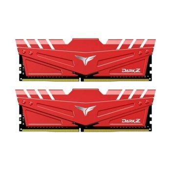 Памет 16GB(2x8GB) DDR4, 3000MHz, TeamGroup T-FORCE DARK Z Red (TDZRD416G3000HC16CDC01), 1.35V image