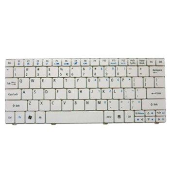 Клавиатура за лаптоп Acer, съвместима със серия Aspire One 751H (ZA3) 752, бяла, US/UK, с кирилица image