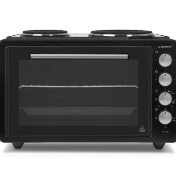Готварска печка Crown CMO-422BL, 2 броя нагревателни зони, 42 л. обем на фурната, черна image
