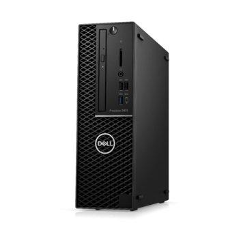 Настолен компютър Dell Precision 3431 SFF (#DELL02482), осемядрен Coffee Lake Intel Core i7-9700 3.0/4.7 GHz, NVIDIA Quadro P620 2GB, 8GB DDR4, 1TB HDD, 4x USB 3.1, Windows 10 Pro image