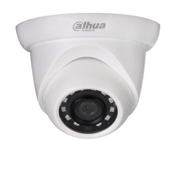 IP камера Dahua IPC-HDW1431S-0360B, Куполнa камерa, 4 МPix (2688x1520)/20FPS), обектив 3.6mm/F2.0, Video compression H.265+/H.265/H.264+/H.264, IR осветеност (до 30m), Степен на защита IP67, PoE (802.3af), RJ-45 image