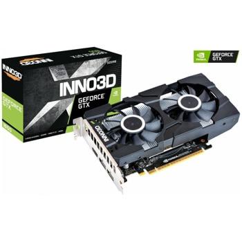 Видео карта Nvidia GeForce GTX 1650, 4GB, Inno3D TWIN X2 OC, PCI-E 3.0, GDDR6, 128bit, DisplayPort, HDMI image