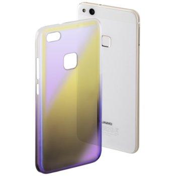 Калъф за Huawei P10 lite, поликарбонат Hama Mirror, жълт/лилав image