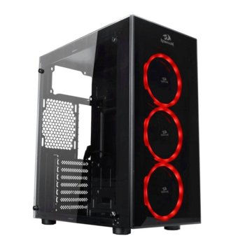 Кутия Redragon Thundercracker GC-605-BK, ATX/M-ATX/Mini-ITX, 2x USB 3.0, прозорец, черна, без захранване image
