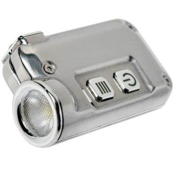 Фенер Nitecore Tiny gray, Li-ion батерия, 380 lm, интензитет 1020 cd, обхват 64 метра, за ключодържател, сив image