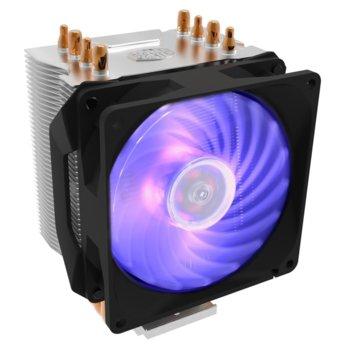 Охлаждане за процесор Cooler Master HYPER H410R RGB, съвместимост с Intel LGA 1151/1150/1155/1156/775/1366/2011/v3/2066 & AMD AM4/FM2+/FM2/FM1/AM3+/AM3/AM2+/AM2, RGB Led подсветка image
