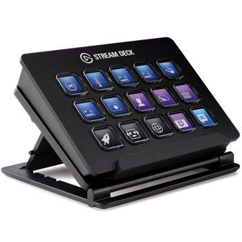 Стрийминг контролер Elgato Stream Deck, 15 цветни LCD бутона, регулируема стойка, USB image