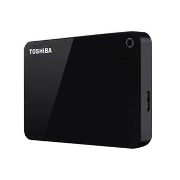 """Твърд диск 1TB Toshiba Canvio Advance (черен), външен, 2.5"""" (6.35 cm), USB 3.0 image"""