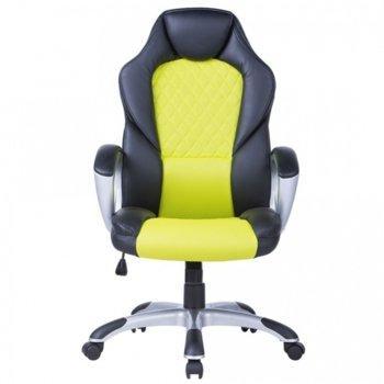 Стол Viking еко кожа черен зелен product