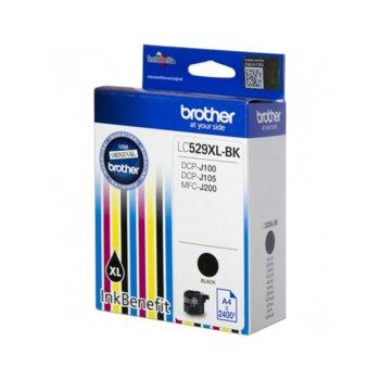 ГЛАВА ЗА BROTHER DCP-J100, DCP-J105, MFC-J200 Ink Cartridge High Yield for - Black - LC529XLBK - Заб.: 2400k. image