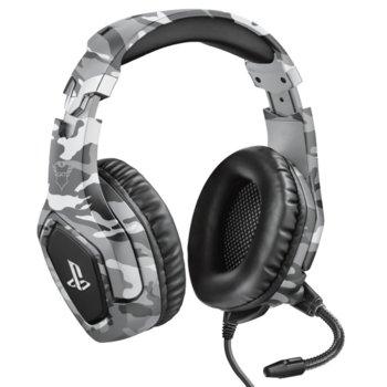 Слушалки Trust GXT - 488 Forze-G PS4, микрофон, контрол на звука, 3.5mm жак, за PS4/PC, сиви image