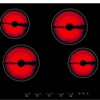 Плот за вграждане Arielli ACH-614A, 4 нагревателни зони, индикатор за остатъчна топлина, сензорно управление, черен image