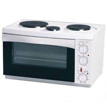 Готварска печка Davoline 4505 Super Eco, 3150W, 30 л. обем на фурната, 3 котлона, бяла image