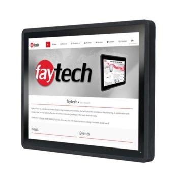 """Индустриален компютър Faytech 1010501756 FT15I5CAPOB, двуядрен Kaby Lake Intel Core i5-7300U 2.6/3.5 GHz, 15"""" (38.10 cm) HD Touchscreen Display, 8GB DDR4, 128GB SSD, 2x USB 3.0, Linux image"""