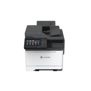 Мултифункционално лазерно устройство Lexmark CX625ade, цветен, принтер/копир/скенер/факс, 1200 x 1200 dpi, 38 стр.в мин., LAN, USB, A4 image