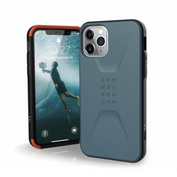 Калъф за Apple iPhone 11 Pro Max, хибриден, Urban Armor Civilian 11172D115454, удароустойчив, син image