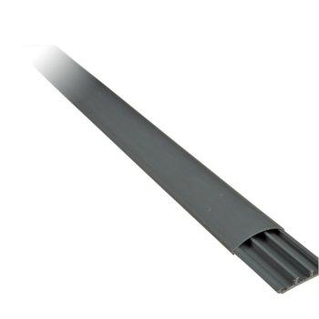 Кабелен канал Elmark, подов, широчина 90 mm, височина 20 mm, дължина 2000 mm, пластмасoв, сив image