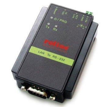 Конвертор Roline 15.06.0503, от RS-232 (DB9) 9-pin(м) към RJ-45(ж), черен, свързване на сериен терминал към 10/100 мрежа image