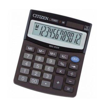 Калкулатор Citizen SDC-812, oсновни математически действия, черен image