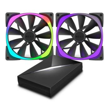 2 броя вентилатори 120mm, NZXT Aer RGB120 с HUE+ контролер, 4-pin PWM, 1500 rpm image