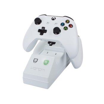 Докинг станция за зареждане за Xbox One с 2 батерии Venom, бяла image