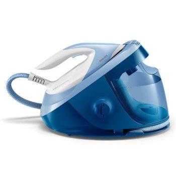 Парогенератор Philips PerfectCare Expert Plus, макс. налягане 7 бара, до 420 г, парен удар, 1.8 л подвижен воден резервоар, синя image