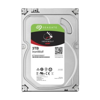 """Твърд диск 3TB Seagate IronWolf ST3000VN007, SATA 6Gb/s, 5900 rpm, 64 MB, 3.5""""(8.89 cm)  image"""