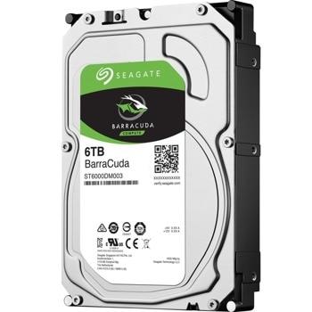 """Твърд диск 6TB Seagate BarraCuda, SATA 3/6Gb/s, 5400 rpm, 256 MB кеш, 3.5"""" (8.89cm) image"""