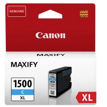 Мастило за Canon MAXIFY MB2050, MAXIFY MB2350 - Cyan - PGI-1500XL - P№ 9193B001 - 1 020k, 12ml image