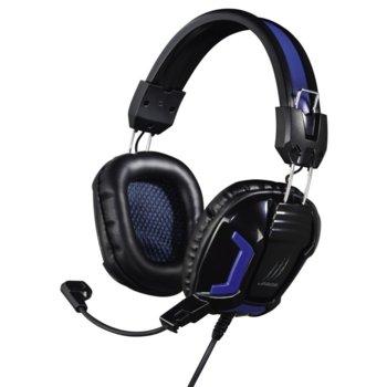 Слушалки Hama uRage SoundZ Essential, гейминг, микрофон, 2.5мм кабел, черно-сини image