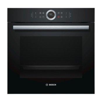 Фурна за вграждане Bosch HBG 633 NB1, клас А+, 71 л. обем, 4D горещ въздух, дисплей, черна  image