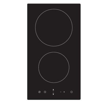 Плот за вграждане Midea MC-HD301, керамичен, 2 нагревателни зони, 1800/1200, сензорно управление, таймер, черен image