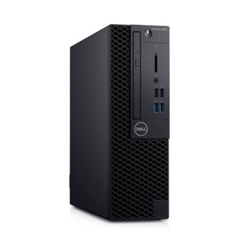 Настолен компютър Dell OptiPlex 3070 SFF (N519O3070SFF), шестядрен Coffee Lake Intel Core i5-9500 3.0/4.4 GHz, 8GB DDR4, 256GB SSD, 4x USB 3.1, клавиатура и мишка, Windows 10 Pro image