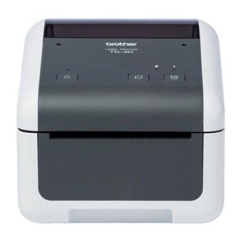Етикетен принтер Brother TD-4420DN, Резолюция (203 x 203), 64MB Flash, 256MB SDRAM, USB 2.0, Wi-Fi, Ethernet LAN image