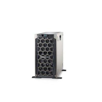 Сървър Dell PowerEdge T340 (PET340CEE03), четириядрен Coffee Lake Intel Xeon E-2134 3.5/4.5 GHz, 32GB 2666 DDR4 ECC UDIMM, 2x 600GB HDD, 2x 1GbE LOM, 2x USB 3.0, без ОС, 1+1 495W image