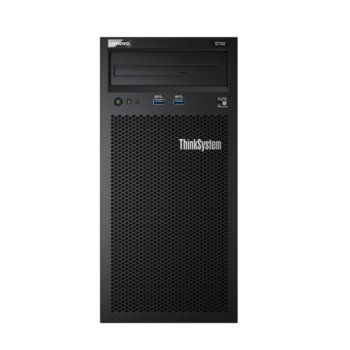 Сървър Lenovo ThinkSystem ST50 (7Y48A02CEA_4ZC7A08696), четириядрен Coffee Lake Intel Xeon E-2144G 3.6/4.5 GHz, 16GB DDR4 UDIMM, 2x 1TB HDD, 1x 1GbE LOM, 2x USB 3.1, без ОС, 1x 250W PSU image