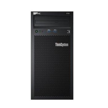 Сървър Lenovo ThinkSystem ST50 (7Y48A02CEA_4ZC7A08696), четириядрен Coffee Lake Intel Xeon E-2144G 3.6/4.5 GHz, 16GB DDR4 UDIMM, 2x 1TB HDD, 1x 1GbE LOM, 2x USB 3.1, без ОС, 1x 250W PSU image