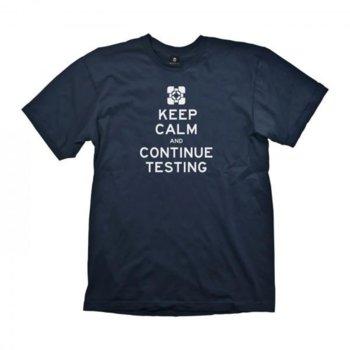 Тениска Gaya Entertainment Portal 2 Keep Calm & Continue Testing, размер S, синя image