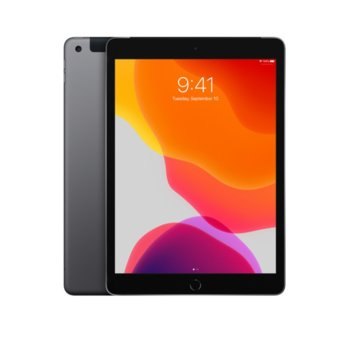 "Таблет Apple iPad 7 10.2"" (MW6E2HC/A)(Space Gray), Wi-Fi + Cellular, LTE, 10.2"" (25.90 cm) IPS Retina дисплей, четириядрен A10 Fusion 2.34GHz, 2GB RAM, 128GB Flash памет, 8.0 & 1.2 Mpix, iPadOS, 493g image"