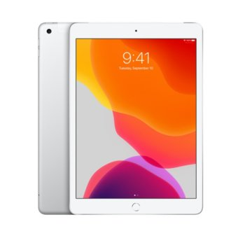 "Таблет Apple iPad 7 10.2"" (MW752HC/A)(Silver), Wi-Fi, 10.2"" (25.90 cm) IPS Retina дисплей, четириядрен A10 Fusion 2.34GHz, 2GB RAM, 32GB Flash памет, 8.0 & 1.2 Mpix, iPadOS, 483g image"