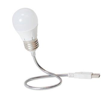 USB лампа LogiLink UA0220, USB, LED, подвижна, бяла image