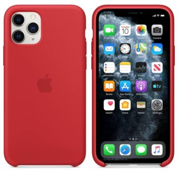 Калъф за Apple iPhone 11 Pro, силиконов, Apple Silicone Case MWYH2ZM/A, червен image