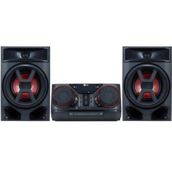 Аудио система LG CK43 XBOOM, 2.0, 300W, Bass Blast, MP3 Upscaling, DJ, USB, AUX, Bluetooth, черна image