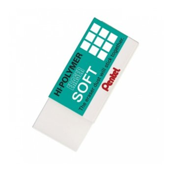 Гума Pentel Zes05 Hi-Polymer Soft, цена за 1бр. image