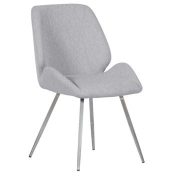 Трапезен стол Carmen Kielce, до 100кг. макс. тегло, дамаска, метална база, светлосив image
